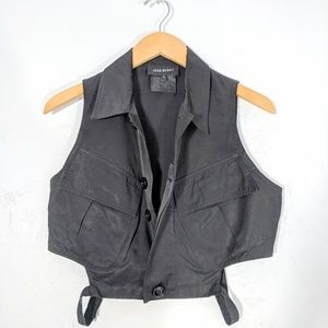 Cropped Cut-Out Vest